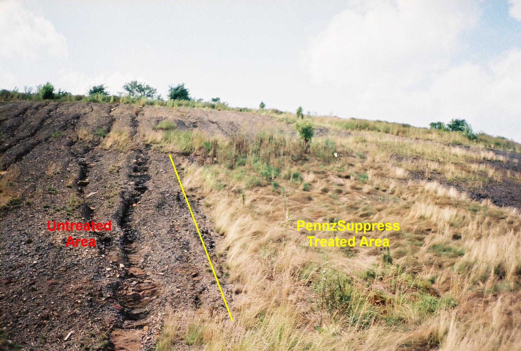 Erosion control pennz suppress dust control soil for Soil stabilization